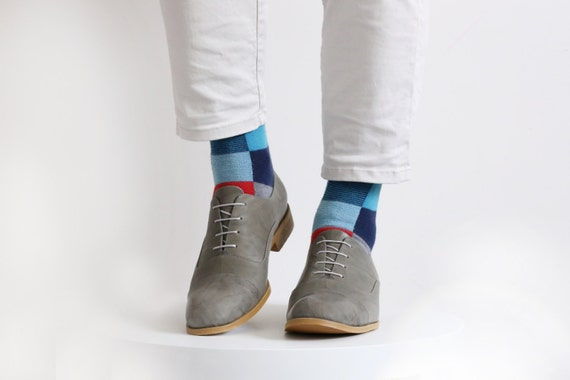 gris brogue ADIKILAV cuir chaussures Oxford pour homme Chaussure en gwaqx0Enz