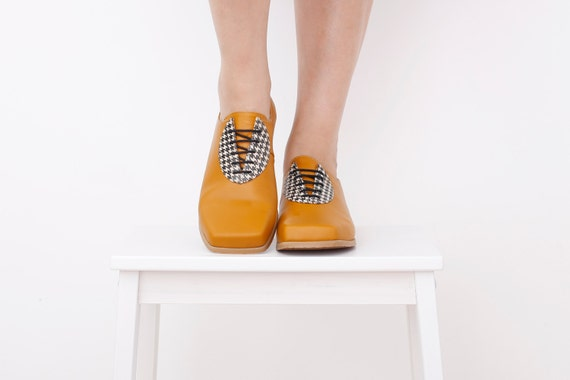 en ballerines cuir Chaussures jaune oxford R8UBBSY
