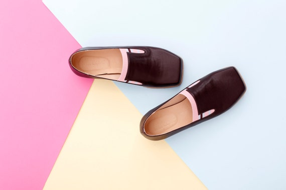 9e8e3c4f133c5b Women s flats Brown leather Slip-Ons shoes brown and