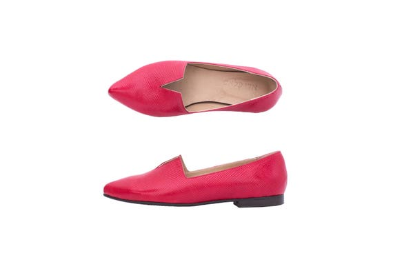 30b168ff3f1701 ... ADI Red free pointy Women s leather KILAV shipping handmade shoes flat  Y8anqgRE ...