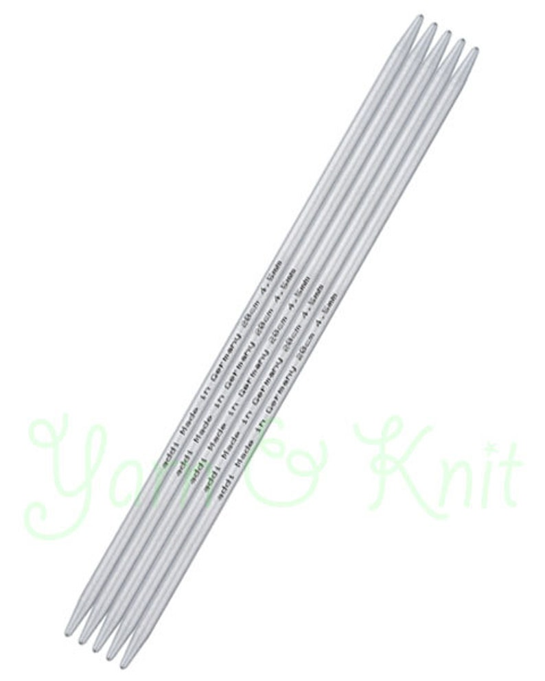 Addi Circular Knitting Needle 30cm x 4.00mm White Brass Tips Gold Cords