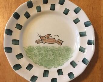 Vintage Spongeware Plate ... Free Shipping