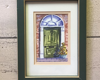 Vintage Watercolor Painting ... Free Shipping