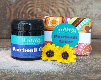 Patchouli Gift Set, Patchouli Soap, Patchouli Body Scub, Essential Oil Gift Set, Crunchy mama gift, Gift under 20, Natural Hippie Soap Set