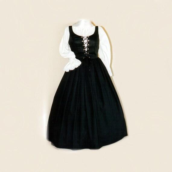 Gothic Black Renaissance Gown Dress Plus Size Halloween Etsy