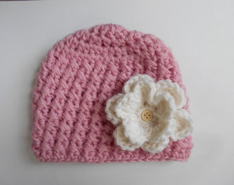 baby girl crochet hat,girl hat,baby girl hat,newborn hat,baby flower crochet hat,flower crochet hat
