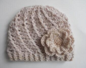 baby girl crochet hat,baby crochet hat ,baby hat ,girl hat ,newborn hat,flower hat ,baby crochet flower hat