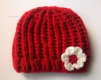 baby girl hat, wool baby Hat