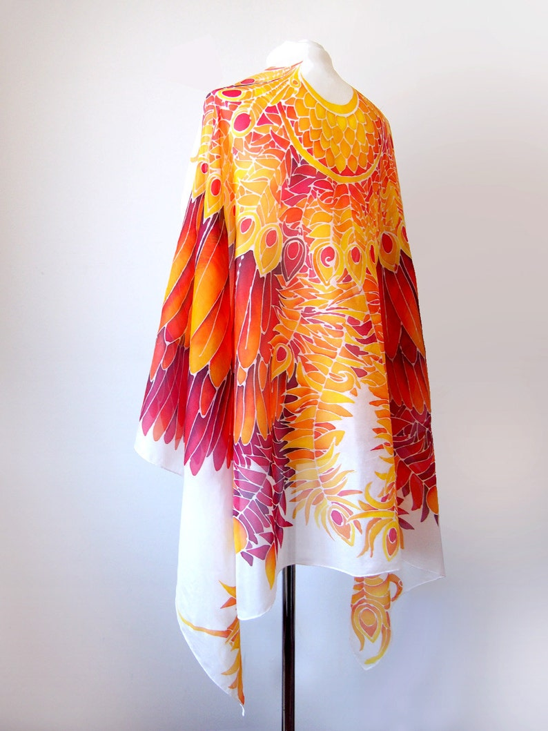 e2dd8e76bfaaa7 Wing sarong-Phoenix Wings Silk szalik-Firebird   Etsy