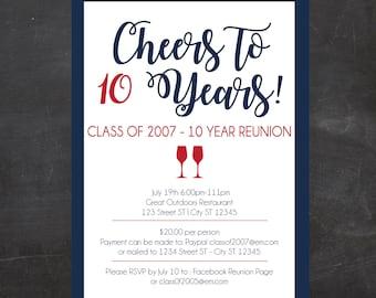 Class reunion invitations Etsy