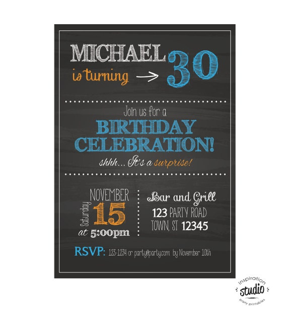 Any Age Birthday Invitation