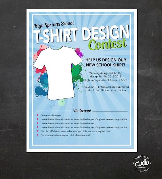 3ef75a531 T-shirt Design Contest Flyer Custom Printable Flyer | Etsy
