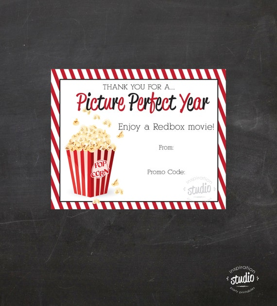 photograph about Redbox Teacher Appreciation Printable named Redbox Online video Printable - hire it toward reward promo codes