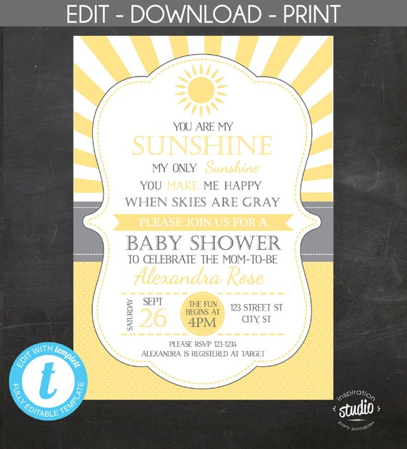 image regarding Printable Baby Shower Invitation Template named Yourself are my Solar My Simply Sunlight Custom made Printable Youngster