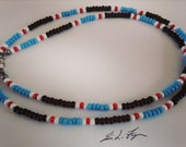 Jim Morrison-1969 Zephyr Edition-Native American Cobra Bead Necklace Hippie necklace Hippie bead necklace Rock music jewelry bead necklace