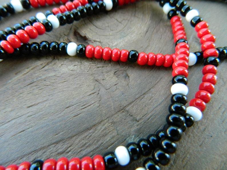 329d46f14cf0f Jim Morrison Cobra Necklace-The Doors/ Reverse Colors Movie Bead Necklace