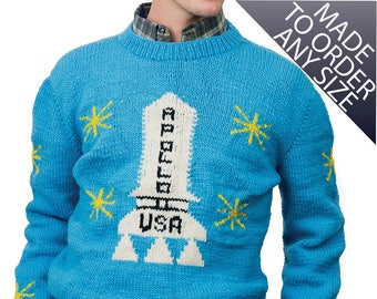 Apollo Sweater, The Shining Movie, Mens Costume, Wool Pullover Sweater Jumper Winter Sweater