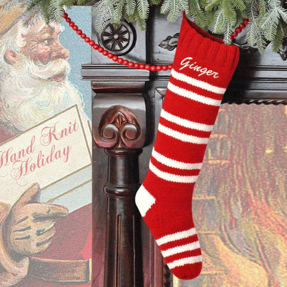 image 0 - Red And White Christmas Stockings