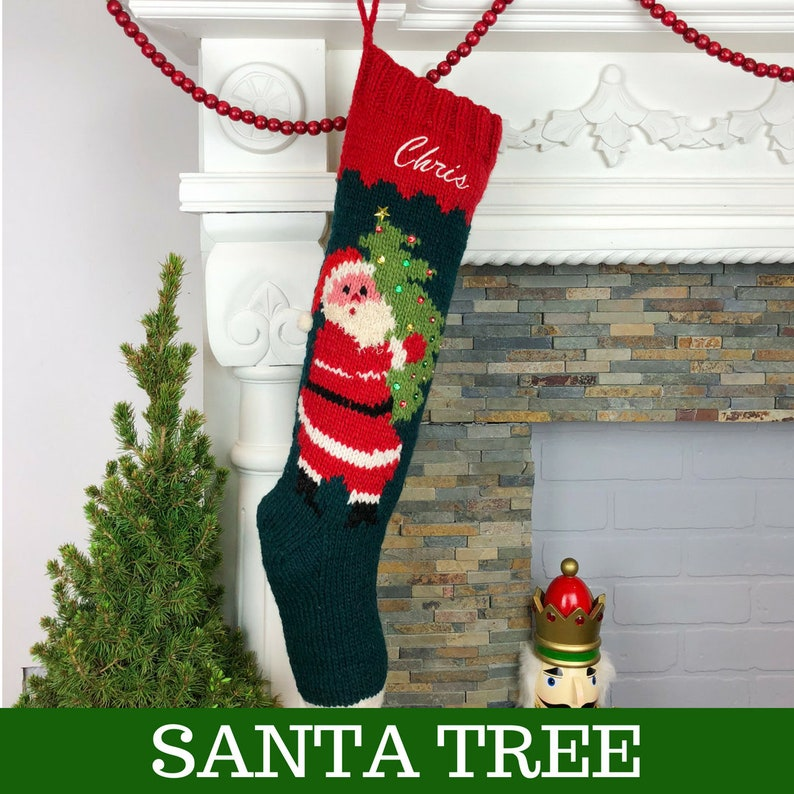c04006103ef Personalized Christmas Stockings Knit Santa Wool Xmas