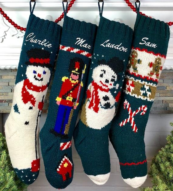 Custom Christmas Stockings.Christmas Stockings Personalized Knit Wool Stockings Mary Maxim Custom Xmas Socks Personalised