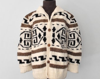 Kids: Big Lebowski / Little Dude cardigan / Cowichan Style Kid's Sweater - made to order