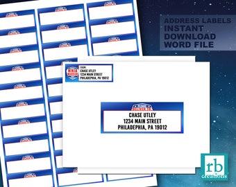 Ninja Warrior Party, Ninja Warrior Address labels, Ninja Warrior Birthday Party, Ninja Warrior Stickers, Ninja Birthday - Instant Download