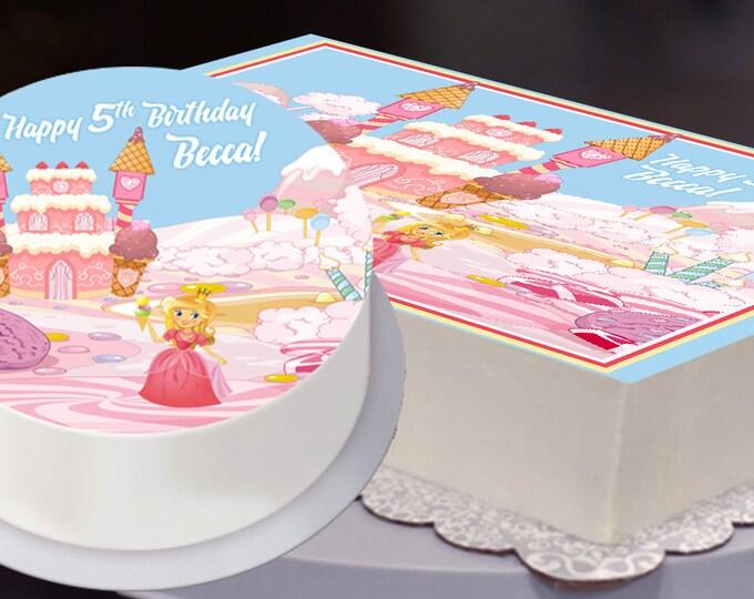 Edible Cake Topper, Ice Cream Party, Ice Cream Birthday, Ice Cream Cake Topper, Ice Cream Parlor, Ice Cream Castle, Princess Birthday Party