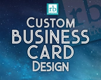 Custom Business Card Design, Business Card Design, Company Business Card Printable, Card Design - Digital Printable
