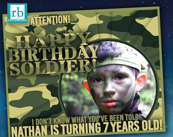 Camo Birthday Party Sign, Army Birthday, Camo Party, Military Birthday, Army Party, Camo Party Supplies, Camouflage - Digital Printables