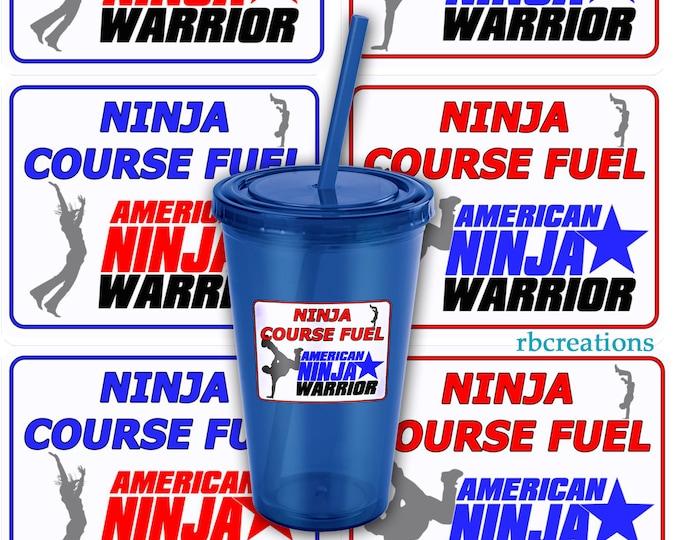 Ninja Warrior Party, Ninja Warrior Stickers, ANW Birthday Party, Ninja Warrior Stickers - Customize digital printables