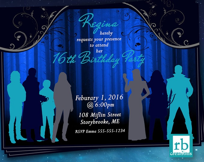 Once Upon a Time, OUAT Birthday Invitation, Once Upon a Time Invitations, OUAT Party, Once Invitation - Digital Printables