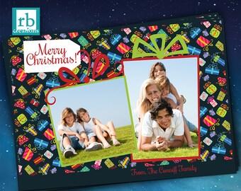 Gifts Christmas Cards, Photo Christmas Card, Family Christmas Cards, Holiday Christmas Card, Holiday Card Printable 13 - Digital Printables