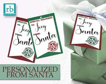 Santa Christmas Gift Tags, Christmas Tags, Christmas Tag Printables, Holiday Gift Tags, Christmas Printable, North Pole - Digital Printables