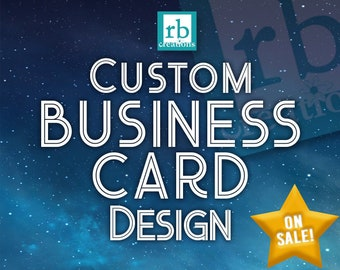 Custom Business Card Design, Business Card Design, Company Business Card Printable, Card Design - Digital Printable