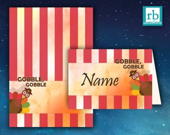 Thanksgiving Place Cards, Thanksgiving Decor, Thanksgiving Decorations, Thanksgiving Food Labels, Thanksgiving, Holiday - Digital Printables