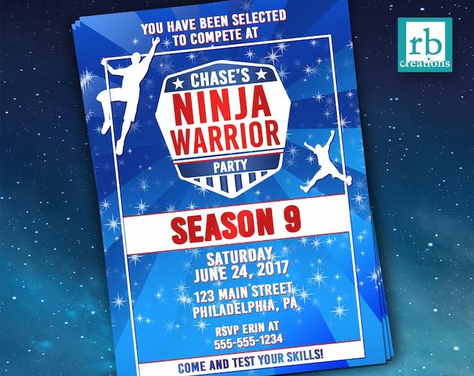 Ninja Warrior Party, Ninja Warrior Invitation, ANW Birthday Party, Ninja Warrior Invitation - Digital Printables