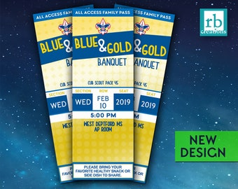 Blue & Gold Banquet Invitation, Boy Scouts Event, Blue and Gold Invitation, Cub Scouts Event, Boy Scouts - Digital Printable