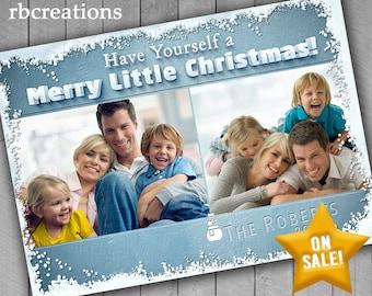 Snow Christmas Cards, Photo Christmas Card, Family Photo Christmas Cards, Snow Holiday Christmas Card, Holiday Card Printable 5