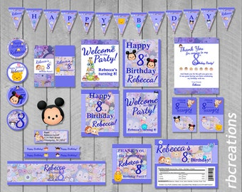 Tsum Tsum Party Supplies, Tsum Tsum Birthday Package, Tsum Party, Tsum Party Printables, Tsum Tsum Printables, Disney - Digital Printable