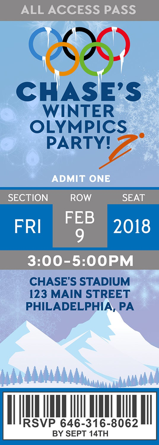 Blue & Gold Banquet Invitation, Olympics Party, Winter Olympics School Invitation, Olympics Event Invitation, Boy Scouts - Digital Printable