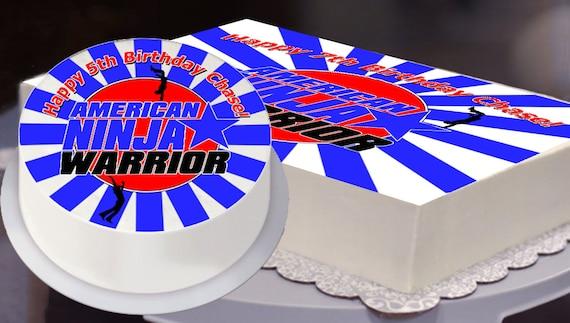 Ninja Warrior Party Edible Cake Topper Ninja Warrior Etsy