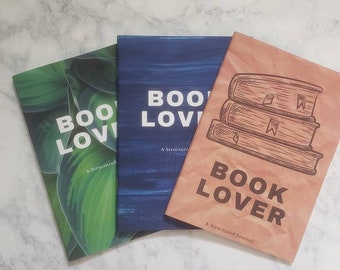 Book Lover's Notebook // Reading Log // Reader Gift // Structured Journal // BuJo // 5.5 x 8.25 A5
