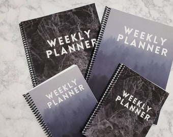 Undated Weekly Focus Planner // Weekly Planner // 2 sizes: 6 x 8.25 A5 and 8.5 x 11 Letter
