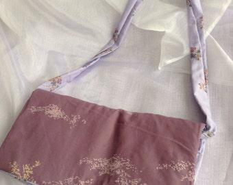 Mauve/ lilac floral shoulder bag