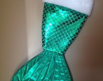 Mermaid tail stocking -green scales