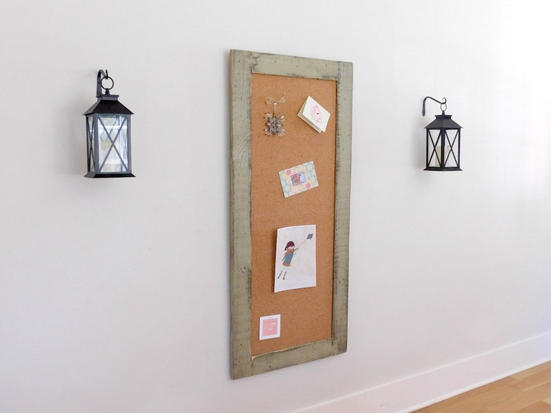 Mix and Match Any 2-24x54 Rustic Chalkboards or Cork Boards