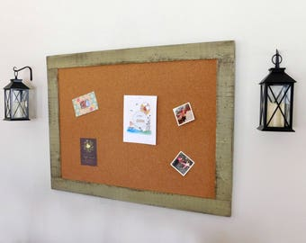 Giant Notice Board, Command Center 36 x 48 Shown in Sage Green