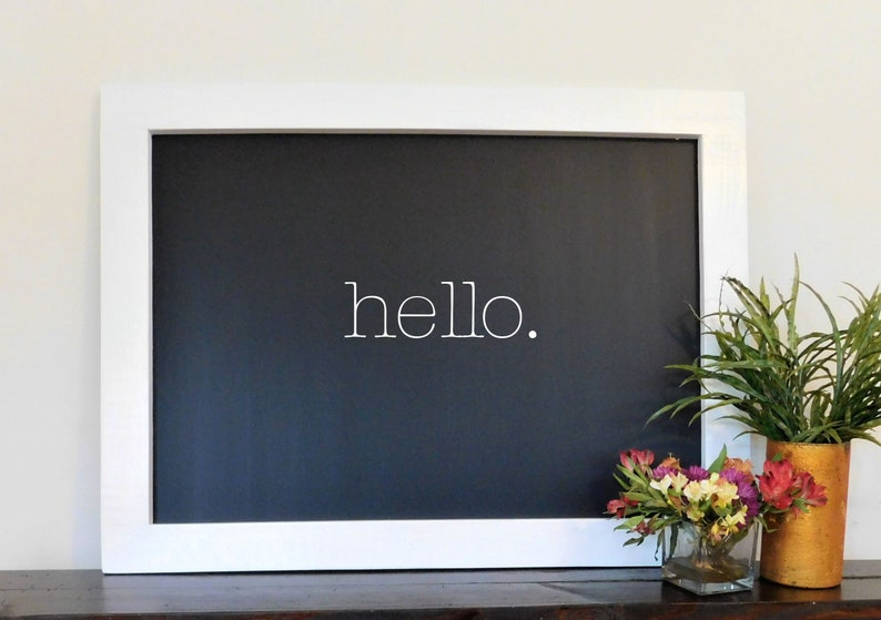 HUGE Framed Chalkboard 36 x 48 Shown in Pure White Solid image 0