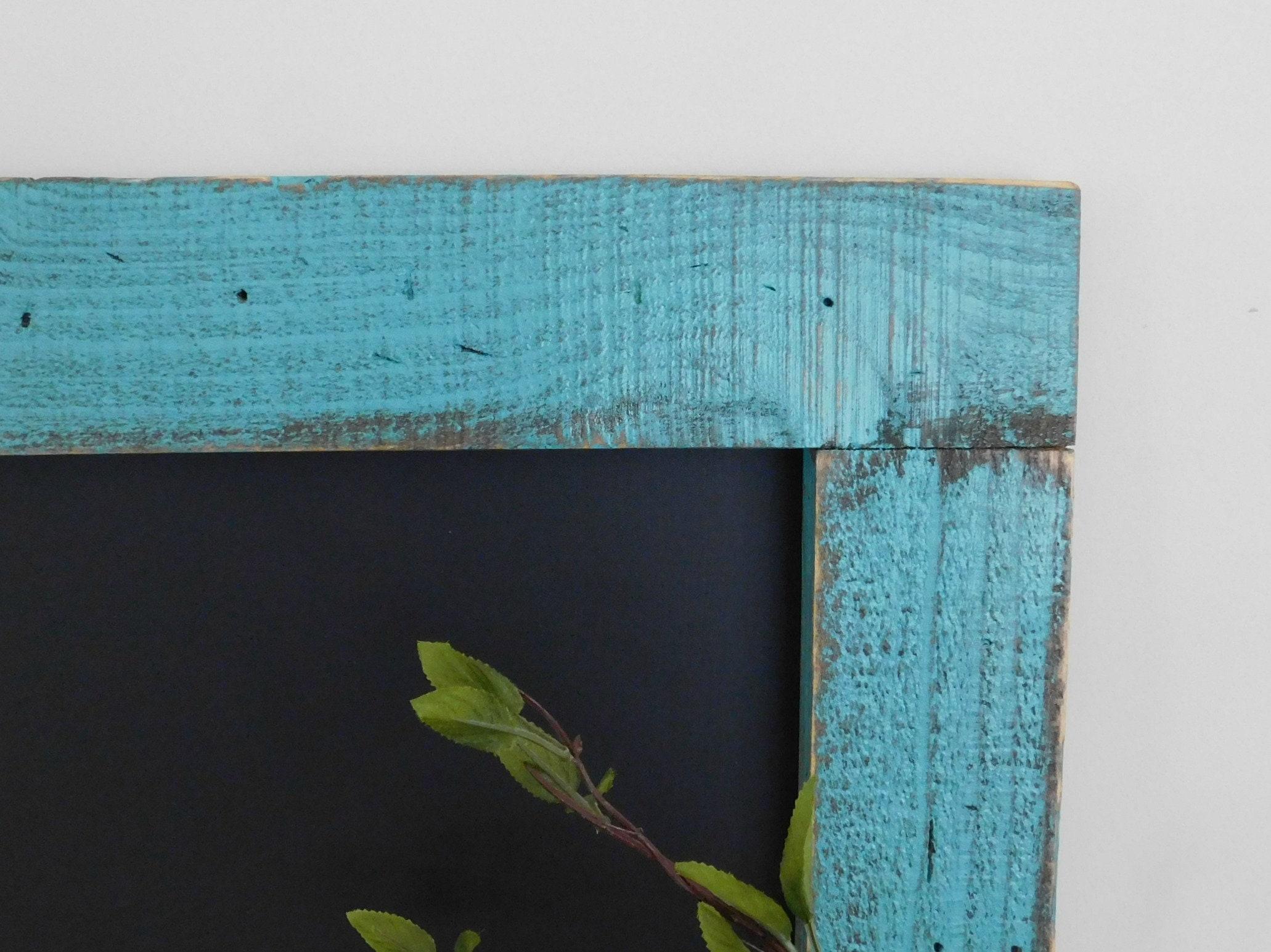 Turquoise FRAMED CHALKBOARD Large Kitchen Decor