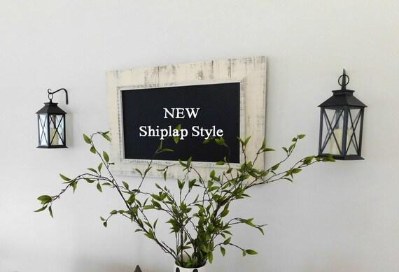 Farmhouse Wall Decor Framed Chalkboard 24 x 36 Shiplap Style   Etsy